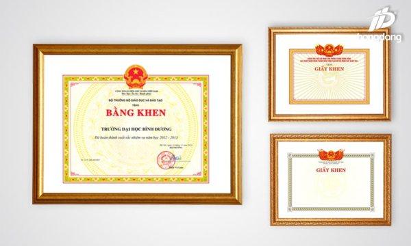 Thiết kế mẫu giấy khen đẹp sang trọng cho công ty